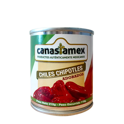 CHILE CHIPOTLE ADOBADO 215g - CANASTAMEX