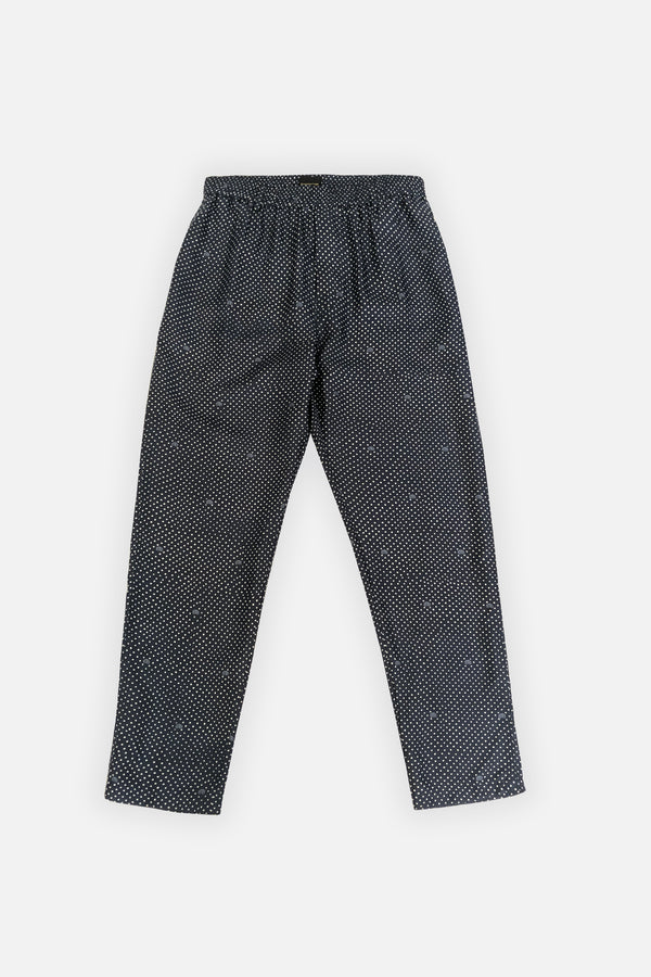 TAPERED 2 PANT BT Dots Navy - BANANATIME