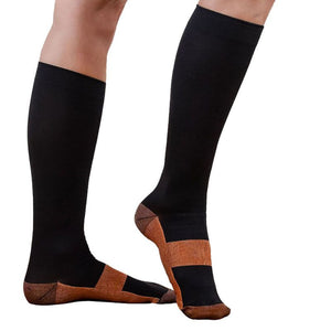 Beige Block Compression Socks