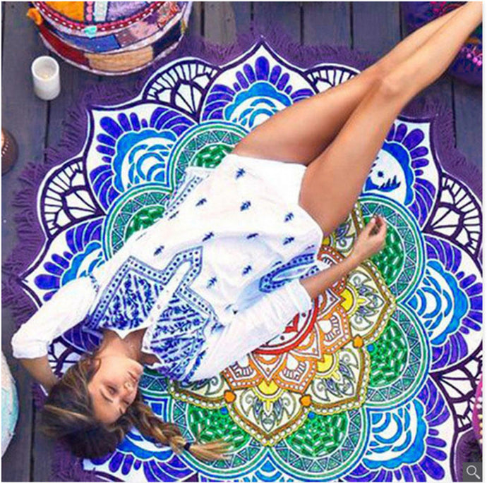 The Alpana Mandala Beach Towel