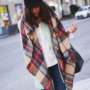The Eka Co Tartan Plaid Shawl
