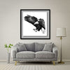 Under The Shadow Of His Wings Giant Format - Artist Print with Frame (Print Size:100cm x 100cm; Framed Size 114cm x 114cm)