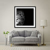 Crown Of Thorns - Lion Giant Format - Artist Print with Frame (Print Size:100cm x 100cm; Framed Size 114cm x 114cm)