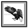 Under The Shadow Of His Wings Standard - Artist Print with Frame (Print Size:60cm x 60cm; Framed Size 74cm x 74cm)