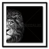 Crown Of Thorns - Lion Classic - Artist Print with Frame (Print Size:30cm x 30cm; Framed Size 44cm x 44cm)