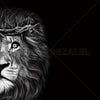 Crown Of Thorns - Lion Classic - Metal Print 30cm x 30cm