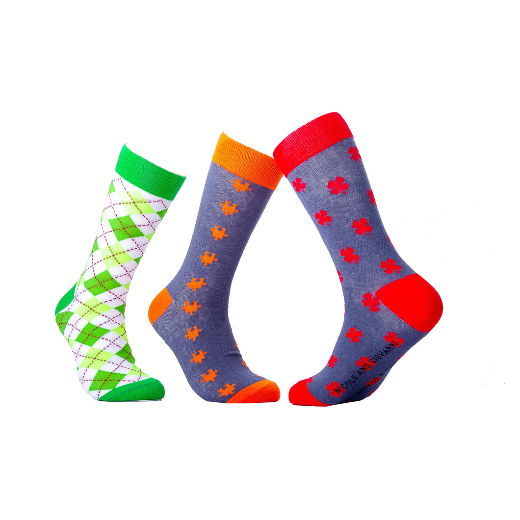 CLASSIC GIFT PACK OF 3 – Abstract Socks