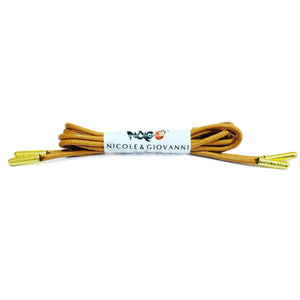N&G Udoka Dress Shoe Laces - Light Brown