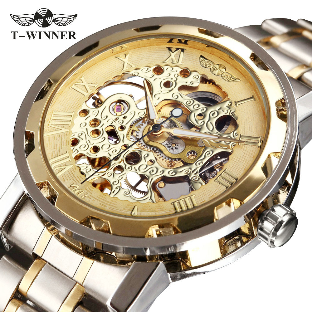 luxury golden crystal women watches