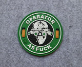 'Operator As Fuck' PVC Morale Patch