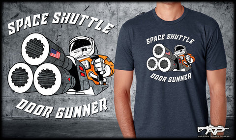 Space Shuttle Door Gunner Shirts
