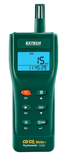 CO260 Indoor Luchtkwaliteit CO/CO2 Meter/Datalogger