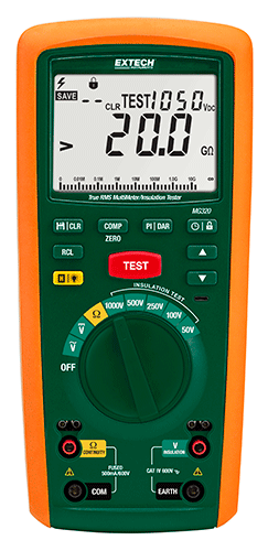 Extech MG320: CAT IV Isolatietester/True RMS-multimeter