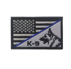 USA K-9 Thin Blue Line Patch - 2x3