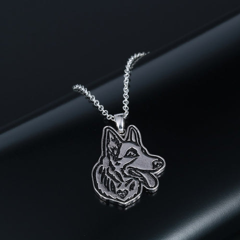 Image of German Shepherd Charm Necklace
