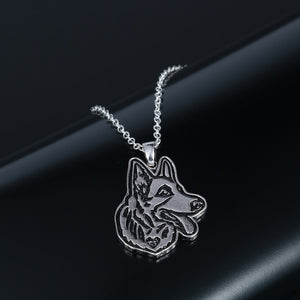 German Shepherd Charm Necklace