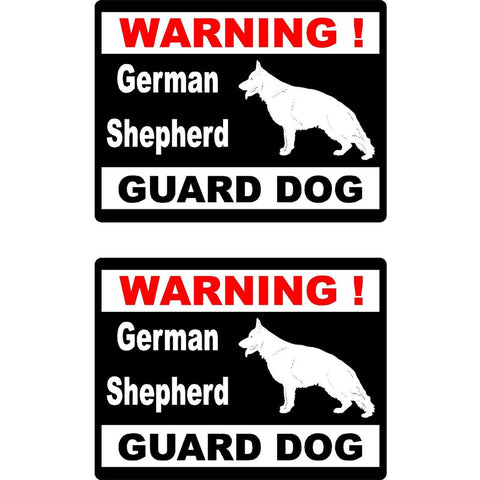 "German Shepherd Warning Sticker 4x6.5"" REFLECTIVE"