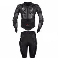Fresh Deals Auto Accessory Black / S Motorcycle Armor Protective Jacket