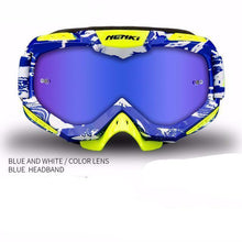 Fresh Deals Auto Accessory Fluorescent blue Unisex Motocross Goggles For Motorcycle