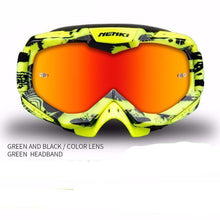Fresh Deals Auto Accessory Fluorescent yellow Unisex Motocross Goggles For Motorcycle