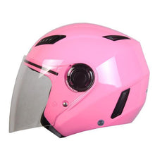 Fresh Deals Auto Accessory Pink / M Motorcycle Open Face Helmet
