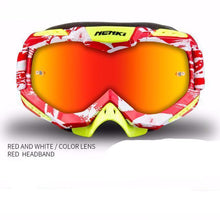 Fresh Deals Auto Accessory red white Unisex Motocross Goggles For Motorcycle