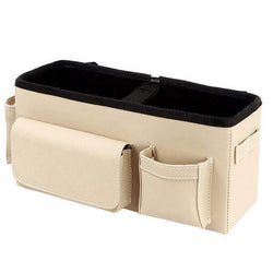 Fresh Deals Automotive & Motorcycle Beige Car Auto Seat Back Seat Multi-Pockets Storage Bag