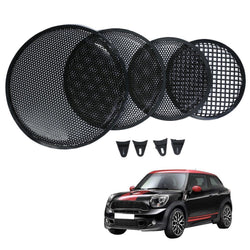Fresh Deals Automotive & Motorcycle Black Auto Speaker Round Metal Mesh Cover