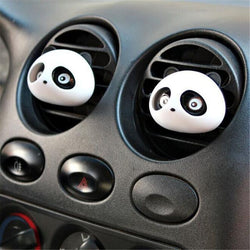Fresh Deals Automotive & Motorcycle Black Panda Auto Car Air Freshener Perfume Diffuser Clip