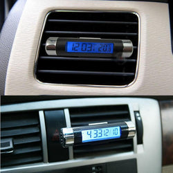 Fresh Deals Automotive & Motorcycle Car LCD Clip-on Automotive Thermometer Clock