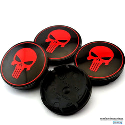 Fresh Deals Automotive & Motorcycle Car Red Skull Sticker Wheel Center Hub Caps