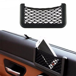 Fresh Deals Automotive & Motorcycle Car Visor Cell Phone Net With Adhesive Pockets Storage Bag