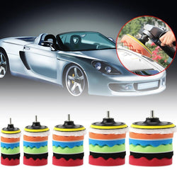 Fresh Deals Automotive & Motorcycle Diameter 80mm Car Polisher Polishing Woolen & Sponge Pads Kit