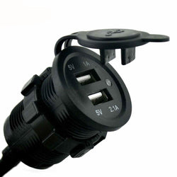 Fresh Deals Automotive & Motorcycle Dual Cigarette Lighter Socket USB Car Charger Power Adapter