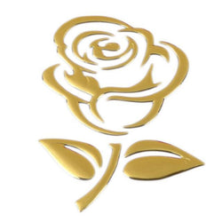Fresh Deals Automotive & Motorcycle Golden Rose Pattern 3D Stereo Car Decals Stickers