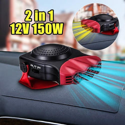 Fresh Deals Automotive & Motorcycle LED Light Portable Driving Cooling Fan Car Heater