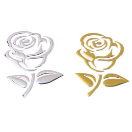 Fresh Deals Automotive & Motorcycle Rose Pattern 3D Stereo Car Decals Stickers