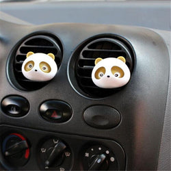Fresh Deals Automotive & Motorcycle Yellow Panda Auto Car Air Freshener Perfume Diffuser Clip