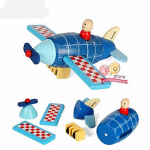 Fresh Deals Baby Airplane Wooden Helicopter Puzzle Block Kit