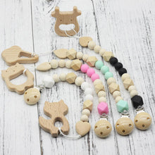 Fresh Deals Baby Baby Dummy Clips Wooden Beads