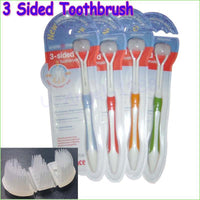 Fresh Deals Baby Baby  Soft Adult Three Sides Toothbrush