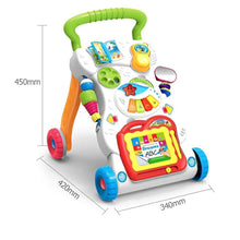 Fresh Deals Baby Baby Steps Adjustable Baby Walker Toddler Trolley
