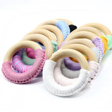 Fresh Deals Baby Baby Teethers Chew Beads Wooden Ring