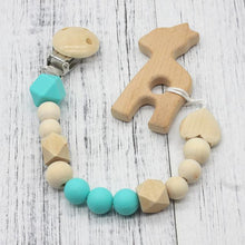 Fresh Deals Baby Blue Baby Dummy Clips Wooden Beads