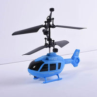 Fresh Deals Baby Blue Flying Mini RC Infrared Induction Airplane