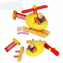 Fresh Deals Baby Helicopter Wooden Helicopter Puzzle Block Kit