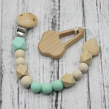 Fresh Deals Baby Light Green Baby Dummy Clips Wooden Beads