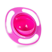 Fresh Deals Baby Pink 360 Rotate Spill-Proof Gyro Bowl