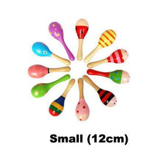 Fresh Deals Baby Small Baby Wooden Rattles Hand Bell
