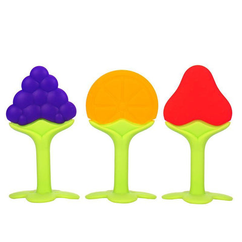 Fresh Deals Baby & Toddler 3 Style Baby Teether Fruit Shape Baby Toys